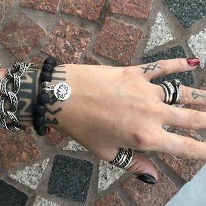 Silverskylight Jewelry - 7 chakra reiki lotus flower oil diffuser bracelet